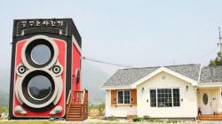 Un café sud-coréen d'une forme