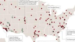 暴発するアメリカの帰還兵:殺人事件194件をマップ化