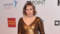 Lena Dunham Wears Plunging Glam