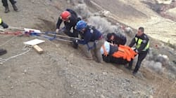 Daring Cliff Rescue After Truck Drives Off