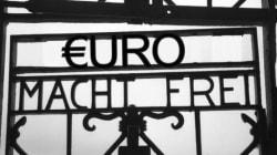 Il tweet di Becchi con il cancello di Dachau: