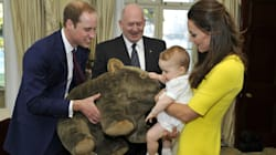 Prince George Takes On A Wombat Twice His