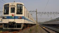東武鉄道野田線2014 -8000系に大凧あげ祭りヘッドマークを掲出-