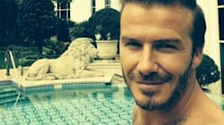 David Beckham. Topless. That's