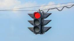 Virage à droite au feu rouge: baisse des