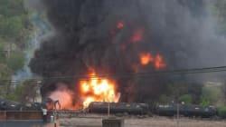 Un train contenant du pétrole déraille en
