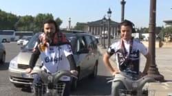 Cyril Hanouna fait la place de la Concorde à vélo en hommage à