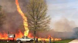 Une incroyable tornade de feu aux