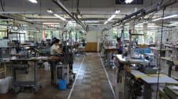 メディアから取材されるアパレル工場