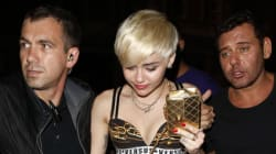 Miley Cyrus Leaves Club In Her