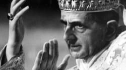 Le pape Paul VI sur la voie de la