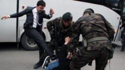 Yusuf Yerkel prende a calci il manifestante