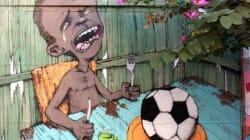 La vision du Mondial d'un artiste de rue brésilien fait le tour du Web