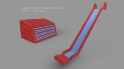 Une invention pour transformer les escaliers en glissades