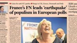 Marine Le Pen à la une des médias français et