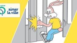 Relooking pour le lapin de la RATP qui se fait pincer les doigts très
