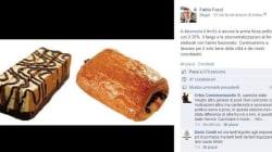 Il sindaco di Pomezia posta la foto di due merendine: