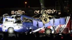 Le bus des Bleus à Knysna