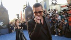 Brad Pitt frappé au visage sur un tapis