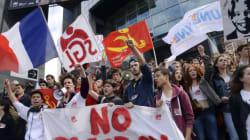 Plusieurs milliers de lycéens et étudiants marchent contre le