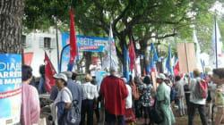 Manifestation à la Réunion contre le
