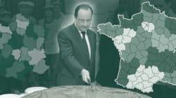 Hollande dévoile la nouvelle carte des régions de