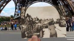 Des photos de la Libération insérées dans des photos