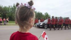 Adieux aux trois policiers tués lors d'une fusillade à Moncton