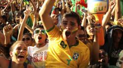 Quand les Brésiliens célèbrent un but, ça