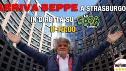 Grillo arriva a Strasburgo