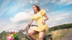 Vous n'hésiterez plus jamais à faire du vélo en jupe