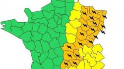Orages: 18 départements placés en vigilance