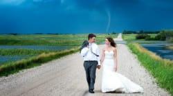 La tornade n'a pas gâché leur mariage (au