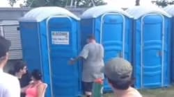 Rapper Leaves Stage, Uses Port-A-Potty, Keeps
