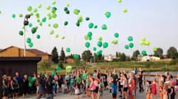 Green Balloons Fill The Sky In Honour Of Missing