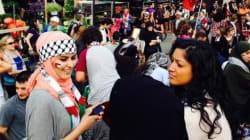 Une manifestation a eu lieu à Montréal en soutien aux Palestiniens de la bande de