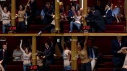 Les Femen perturbent une séance au Sénat au nom de la loi