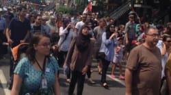 Des Canadiens manifestent contre l'offensive israélienne dans la bande de