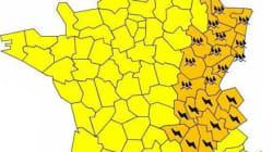 21 départements en alerte orange orages et
