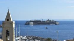 Le départ du Costa Concordia en