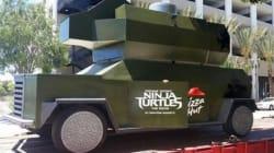Le camion lanceur de pizzas des Tortues Ninja devient