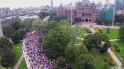 Drone Captures Scale Of Gaza Protest In