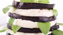 Millefeuille d'aubergine au fromage