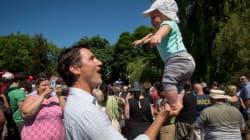 Trudeau Balances Son On One