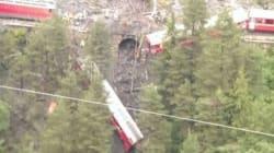 Svizzera, treno deragliato nel canton Grigioni a causa di una frana