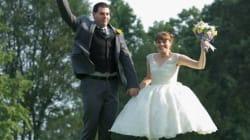 Photos de mariage et illusion d'optique font bon