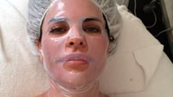 Lisa Rinna's Face Mask Makes Her Almost