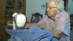A 99 anni cuce un abito al giorno per le bambine