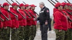 Harper Observes Military Exercise In