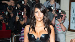 Kim's Sheer Bustier Dress Leaves Nothing To The